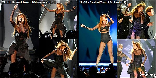 09.07.16 au 28.06.16 - Selena à donnée 8 concerts du Revival Tour.