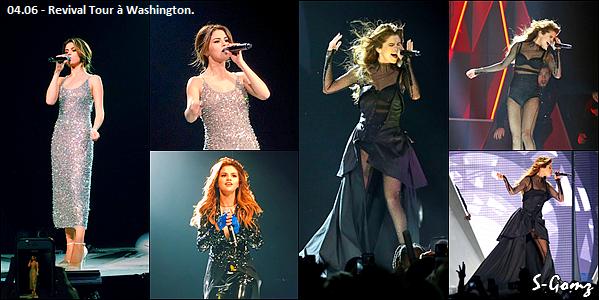 10.06.16 au 04.06.16 - Selena à donnée 5 concerts du Revival Tour.