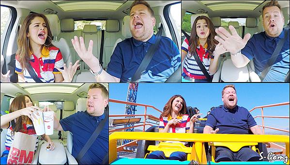 20.06.16 - Selena a participé à l'émission « Carpool Karaoké » présenté par James Corden.