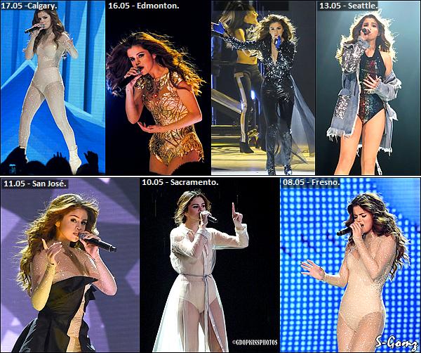 29.05.16 au 08.05.16 - Selena à donnée 15 concerts du Revival Tour.