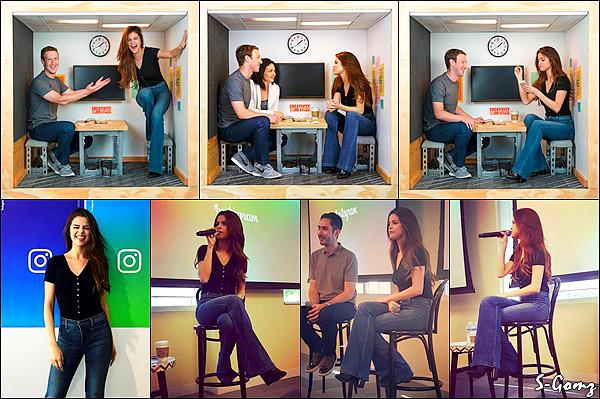 13.05.16 - Selena  était dans les bureaux des réseaux sociaux Facebook et Instagram dans Seattle.