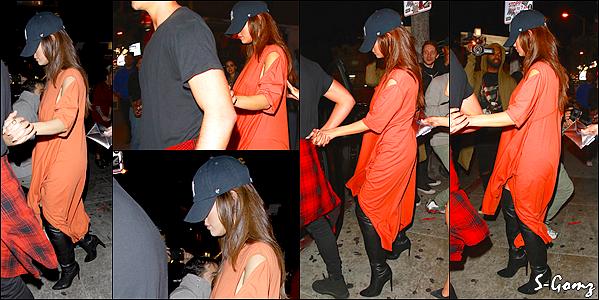 01.04.16 - Selena a été photographiée quittant le Roxy Theatre à West Hollywood.