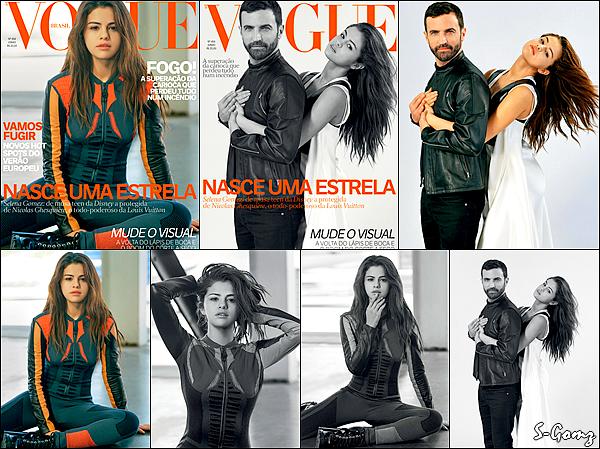 Découvrez Selena en couverture du magazine VOGUE Brasil pour le mois de Juillet 2016.