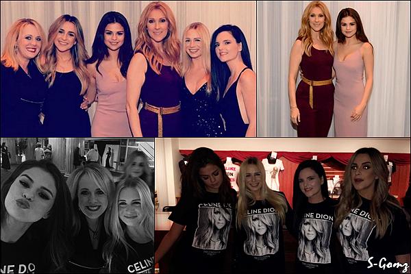 13.03.16 - Selena a été aperçu assistant au concert de Céline Dion avec ses amies à Las Vegas.