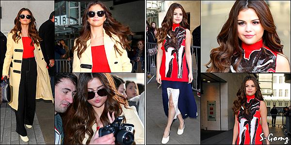 11.03.16 - Selena a été photographiée arrivant puis quittant les studios de Capital FM à Londres.