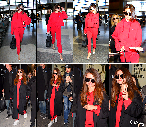 07.03.16 - Selena a été photographiée arrivant à l'aéroport de LAX pour prendre un vol vers Paris à LA. Puis quelques heures après, notre Selly a été photographiée quittant l'aéroport Charles de Gaulle à Paris.