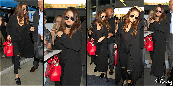 16.02.16 - Selena a été photographiée arrivant à l'aéroport à LA pour prendre un vol vers le Texas.