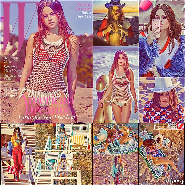 Découvrez Selena Gomez en couverture du W Magazine pour le mois de Février 2016.