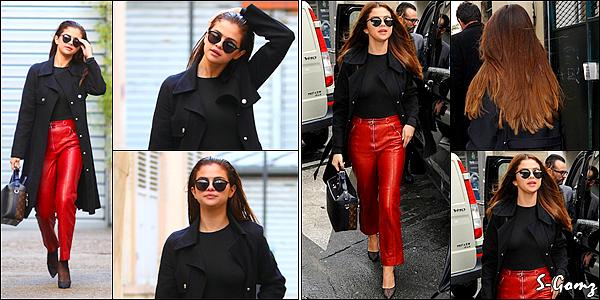 09.03.16 - Le soir, Selena a été photographiée arrivant au dîner de Louis Vuitton à Paris.
