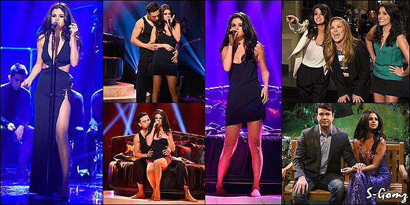 23.01.16 - Selena était présente à l'émission « Saturday Night Live » à New York. Selena a performer sur son nouveau single HTM et un medley de GFY et SOL. (Vidéo)