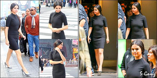 11.12.15 - Selena sur Time Square à New York. Plus tard, Selena arrivant au restaurant Cipriani à NY.