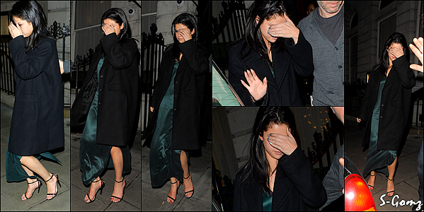13.12.15 - Selena a été photographiée quitant le Edition Hotel avec Niall Horan à Londres.