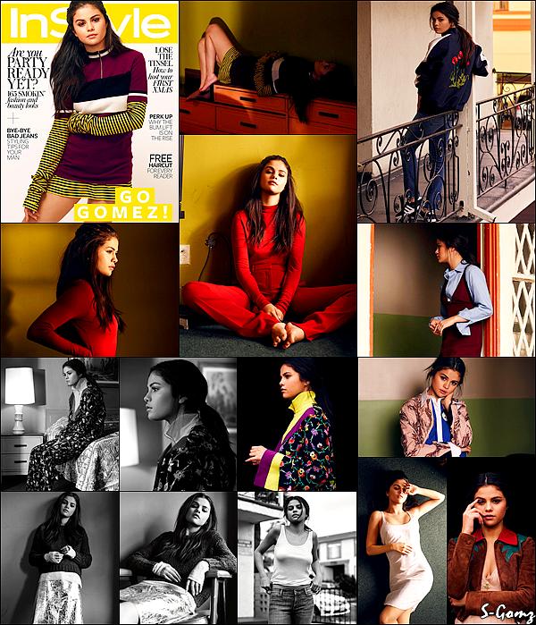 Découvrez Selena Gomez en couverture du magazine InStyle UK pour le mois de Janvier 2016.