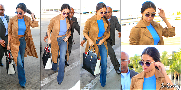 24.11.15 - Selena a été photographiée arrivant à l'aéroport de LAX pour prendre un vol direction le Texas à LA.