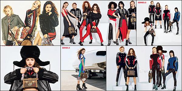 """Découvrez des photos de Selena pour la campagne """"Series 5"""" de la marque Louis Vuitton, dont elle est le visage."""