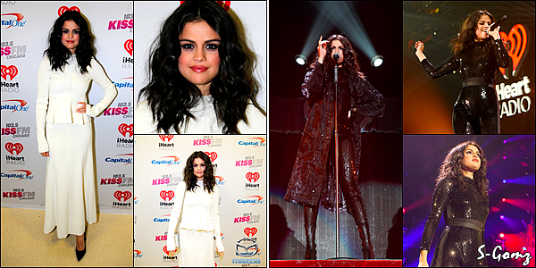 16.12.15 - Selena s'est rendue à l'évènement 103.5 KISS FM Jingle Ball à Chicago.