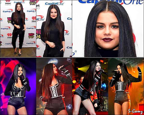 03.12.15 - Selena s'est rendue à l'évènement Jingle Ball  à Oakland.
