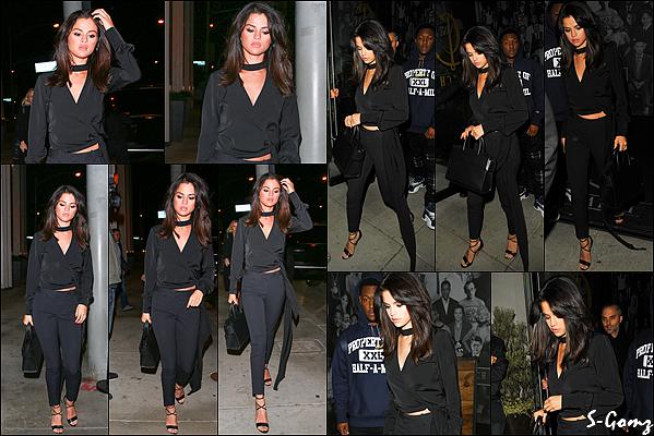 04.12.16 - Selena a été photographiée quittant le restaurant Soho House à Malibu.