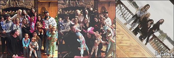 31.12.16 - Selena fête le réveillon avec sa famille et ses amis en vacances au ski.