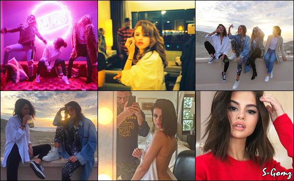 10.01.17 - Selena a été photographiée quittant un restaurant avec The Weekend (en couple ?) à Santa Monica.