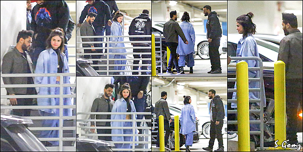 26.01.17 - Selena a été photographiée avec The Weekend quittant le Dave & Buster's à West Hollywood.