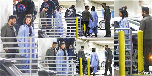 26.01.17 - Selena a été photographiée avec The Weekend quittant le Dave & Buster's à West Hollywood.