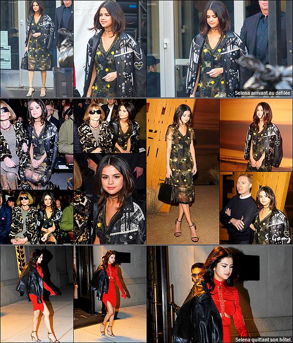 14.02.17 - Selena s'est rendu au défilée de Coach lors de la Fashion Show à New York.