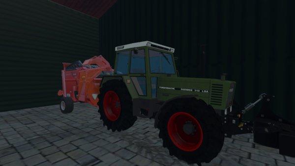 achat d un fendt farmer 310 lsa avec la pailleuse khun