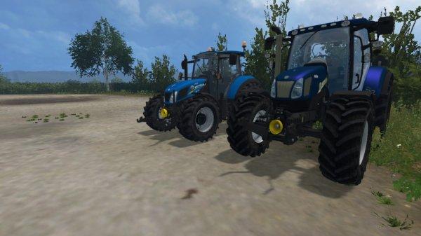 achat de 2 new holland un t5 et un t6 bleu power