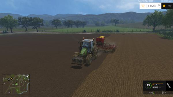 semis de blé avec mon deutz