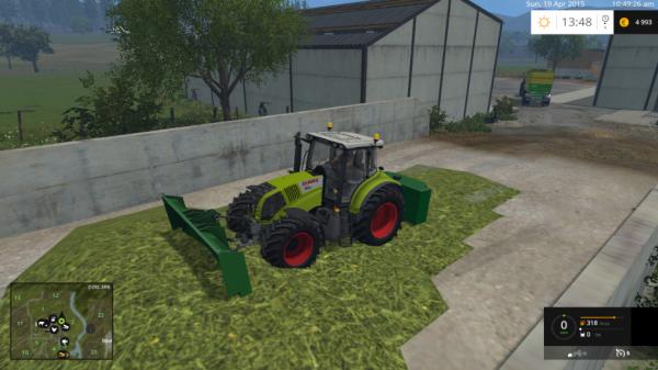 voici mon tracteur pour tasser