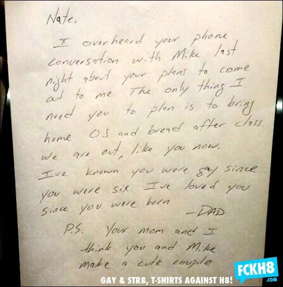 lettre  d'un père à son fils gay