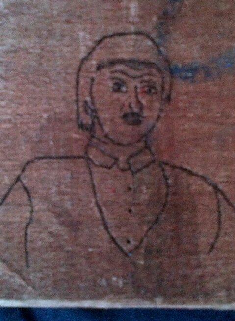 Petit dessin graver dans le bois par moi