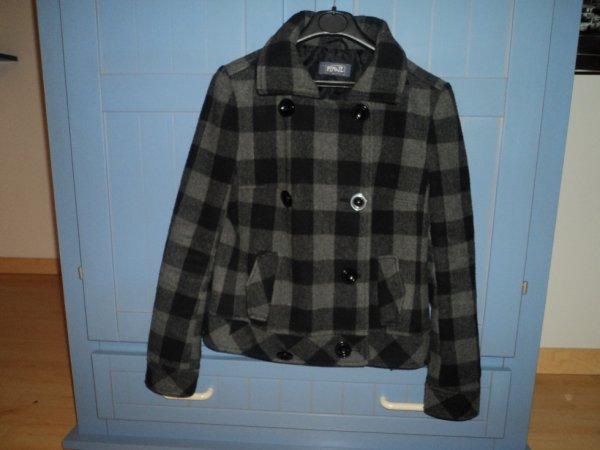 Manteau noir/gris t.36