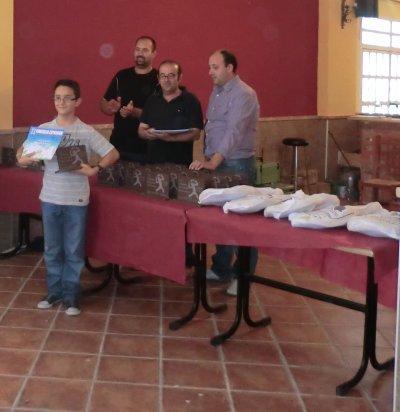 recogida de premios por mis niños