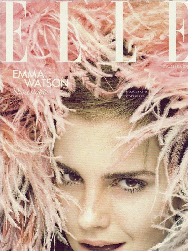 . SCANS _'Emma fera la couverture du magazine Elle britannique qui apparaîtra le 5 Octobre  .