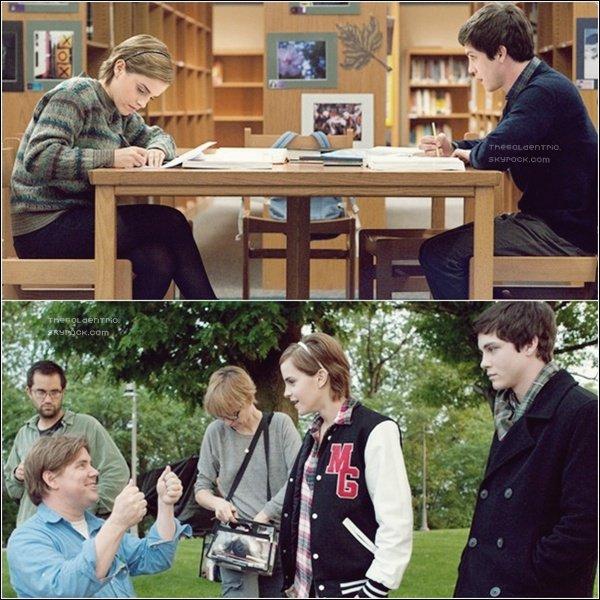 """. FILM_'Deux nouvelles photos du prochain film d'Emma intitulé """"Perks if Being a Wallflower""""  ."""