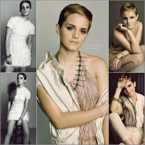 . PHOTOSHOOT _'Des nouvelles photos ont étaient ajoutés , provenant du magazine Marie Claire qu'avait fait Em' il y'a a peu près 1 an  .