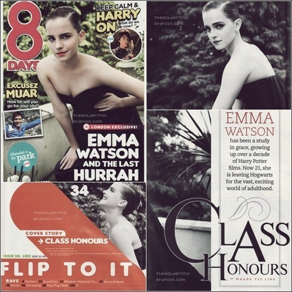 . SCANS _'Emma fait la couverture du magazine 8Days.