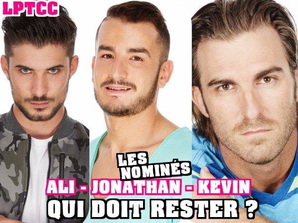 Secret Story 9 : Votez dés maintenant - NOMINATIONS Garçons  - ALI / JONATHAN / KEVIN NOMINÉS : Qui doit continuer l'aventure ? (VOTEZ)