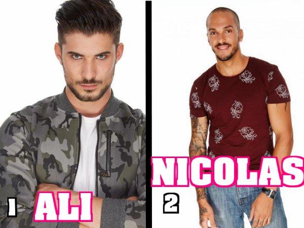 Secret Story 9 : Votez dés maintenant - NOMINATIONS Garçons - ALI / NICOLAS NOMINÉS : Qui doit continuer l'aventure ? (VOTEZ)