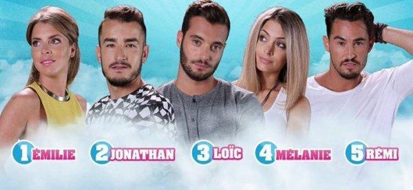 Secret Story 9 : Votez dés maintenant - DEMI-FINALE - EMILIE / JONATHAN / LOÏC / MÉLANIE / RÉMI NOMINÉS : Qui doit accéder à la grande finale ? (VOTEZ)