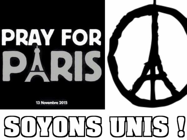SOUTIENT - Toutes nos pensées vont aux victimes des attaques, qui ont frappé Paris !