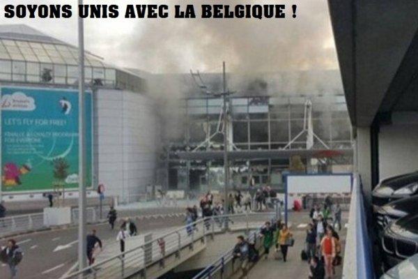 SOUTIENT - Toutes nos pensées vont aux victimes des attentats de Bruxelles !
