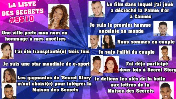 Secret Story 10 : Voici la liste officielle de cette dixième saison !