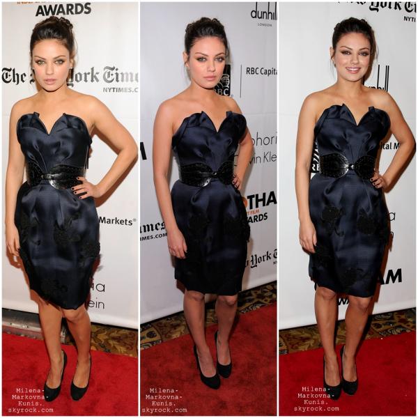 ************ 5/05/2011 → Mila, encore et toujours sur le tournage de son nouveau film, Ted. . **************4/05/2011 → Mila, se promenant dans les rue de Boston, lieu de tournage de Ted. Flashback  29/11/10 →  Mila lors du 20th Annual Gotham Independent Film Awards in NYC . Je trouve que Mila est resplendissante et sa robe est une merveille. TOP!