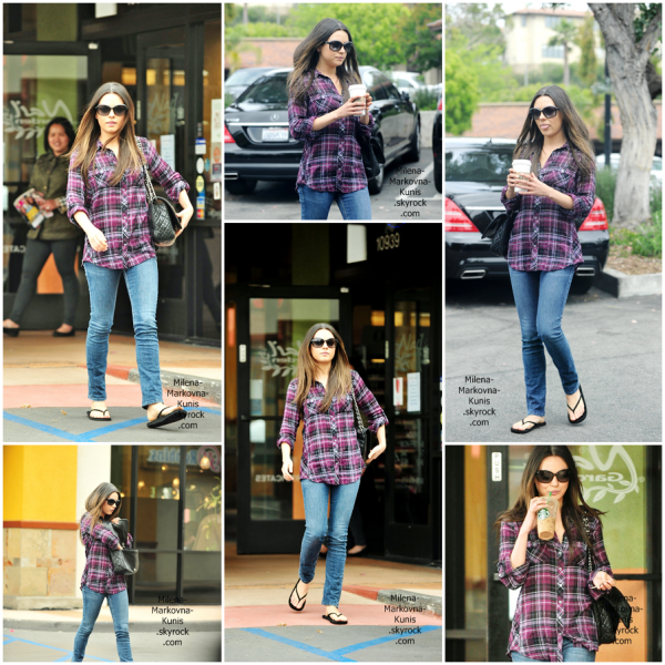 . Mila, sortant de chez Starbucks un café à la main dans Studio City. (10juin 2011) . + Guys Choice Awards vidéo (Mila+Justin) .