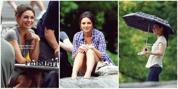 . Behind the scene : Friends With Benefits - Making of  +  des photos de Mila sur le set de 'FWB' - 2011   .