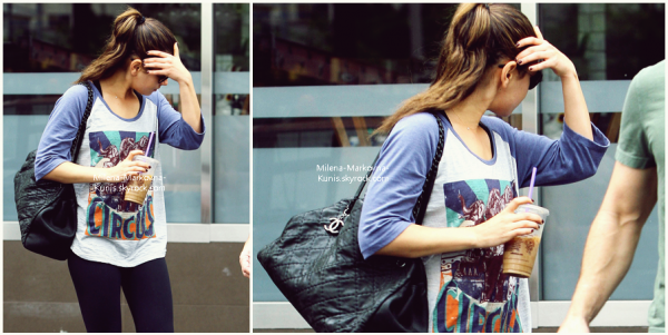 . Spotted : Mila,sortant d'une salle de gym,un café glacé à la main  (WEST HOLLYWOOD) - 4octobre 2011.
