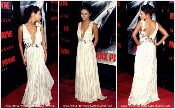 . FLASHBACK : Mila,lors de la première du film 'Max Payne' . (LOS ANGELES)............................énorme TOP!.